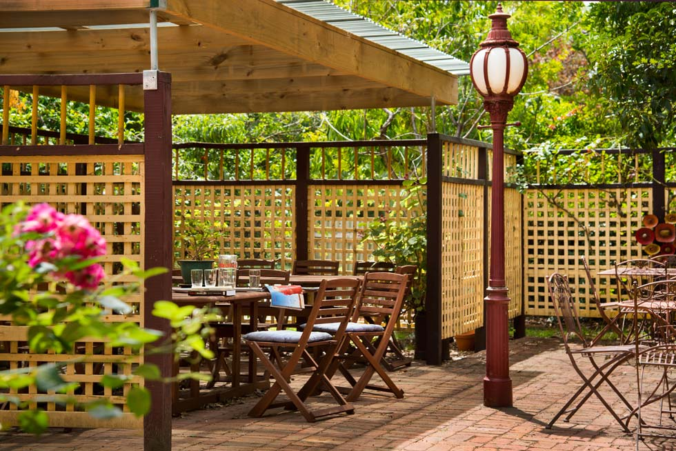 Each room opens onto a verandah and into our inviting gardens that include a pool and an undercover BBQ area.